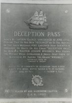 Image of 1997.076 - Deception Pass historical marker