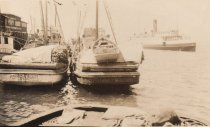 Image of D.XX.003.123 - Purse seiners moored on Guemes Channel