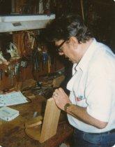 Image of 1997.230 - Unknown man at Kiwanis workbench