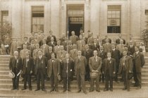 Image of Large group of unknown men