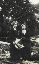 Image of Postcard photograph of two young women