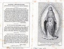 Image of Church service pamphlet from Notre Dame 1864