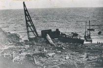 Image of HOOSIER BOY wrecked on Salmon Banks, San Juan Island c.1909