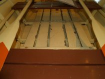 Image of inside of Rickaby Skiff at the Maritime Heritage Center