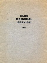 Image of Elks Memorial Service program 1920 Dec 5