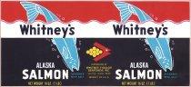 Image of Whitney's Alaska Salmon; salmon label