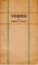 Image of VERSES by Horace J. Taylor