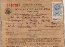 Image of WWII Ration Book