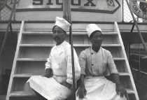 Image of Two Asian cooks aboard the S.S. SIOUX