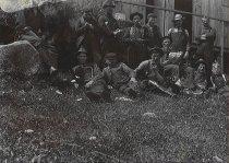 Image of Working men taking a break