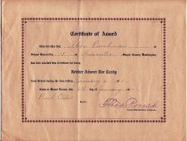 Image of 2003.030.004 - Certificate, Attendance