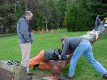 Image of .002 removal of Paul Luvera Totem Pole