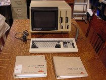 Image of Les Johnson's computer 1982