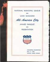Image of Banquet program for All America City Award