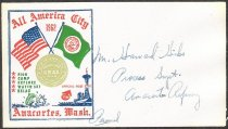 Image of Envelope stamped with All American City logo 1962