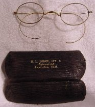 Image of 2004.042.001-.002 - Eyeglasses, case
