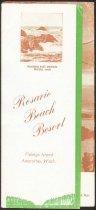 Image of Rosario Beach Resort brochure
