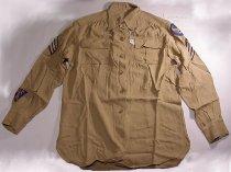 Image of Tan WAC military shirt