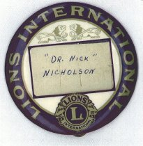 Image of Lion's International club pin