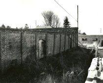 Image of .007 (APX 6) North wall with bracing and two doors