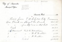 Image of Receipt to T.B. Childs from City of Anacortes