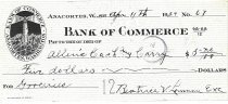 Image of Bank of Commerce canceled check # 67
