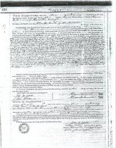 Image of Deed between Bowman and Curtis