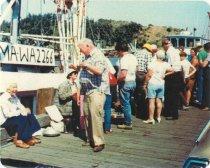 Image of Vern Jamison selling halibut