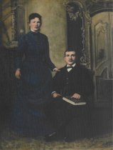 Image of Wedding portrait of Barbara and Valentine Funk 1888