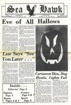 Image of Sea Hawk Newspaper, October 30, 1981