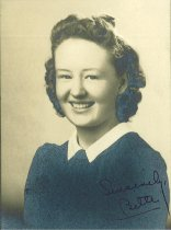 "Image of ""Bette"" AHS class of1941"