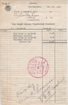 Image of Telephone bill-1926 GUEMES CO