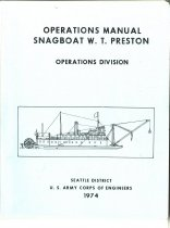 Image of Operations Manual Snagboat W.T. Preston