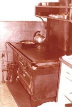 Image of Galley stove on W.T. Preston, Oct. 1981