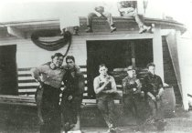 Image of Five crew members of SKAGIT 1, 1909