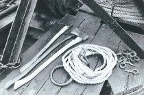 Image of Tools including log dogs used on the W.T. Preston.