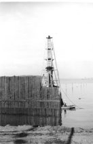 Image of Seawall construction and pile driver 1963 (.117)