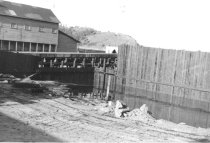 Image of Seawall construction, Cap Sante in background (.118)