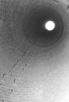 Image of Looking up inside the smokestack 1958 (.123)