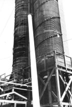 Image of Twin wood stave tanks 1961 (.128)