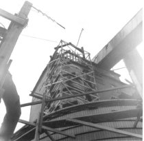 Image of Coos Mill looking up chemical tanks (.015)