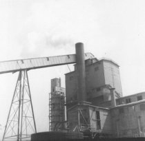 Image of Coos Mill smoke stack & conveyor (.018)