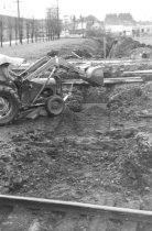 Image of Ford backhoe filling trench (.029)