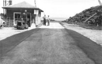 Image of Log yard and scale house looking east 1964 (.063)