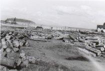 Image of Log yard looking east 1955 (.065)
