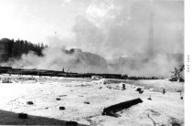 Image of Morrison Mill & fire --May 1959 (.077)