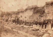 Image of Road construction crew 1900 c.