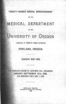 Image of Univ. of Oregon Medical School Announcement 1908-09