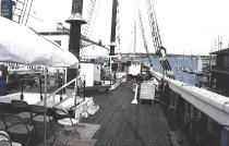 Image of Event set-up, looking aft