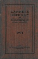 Image of Canners Directory 1934